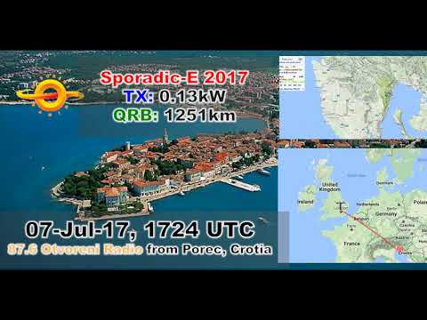 [Sporadic-E] 87.6 Otvoreni Radio, from Porec in Croatia! 130W TX! ID