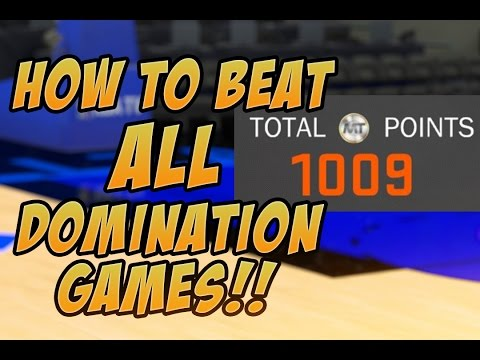 NBA 2K17 HOW TO BEAT ALL DOMINATION GAMES EASY TIPS!!