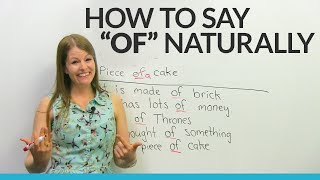"How to pronounce ""OF"" like a native English speaker"