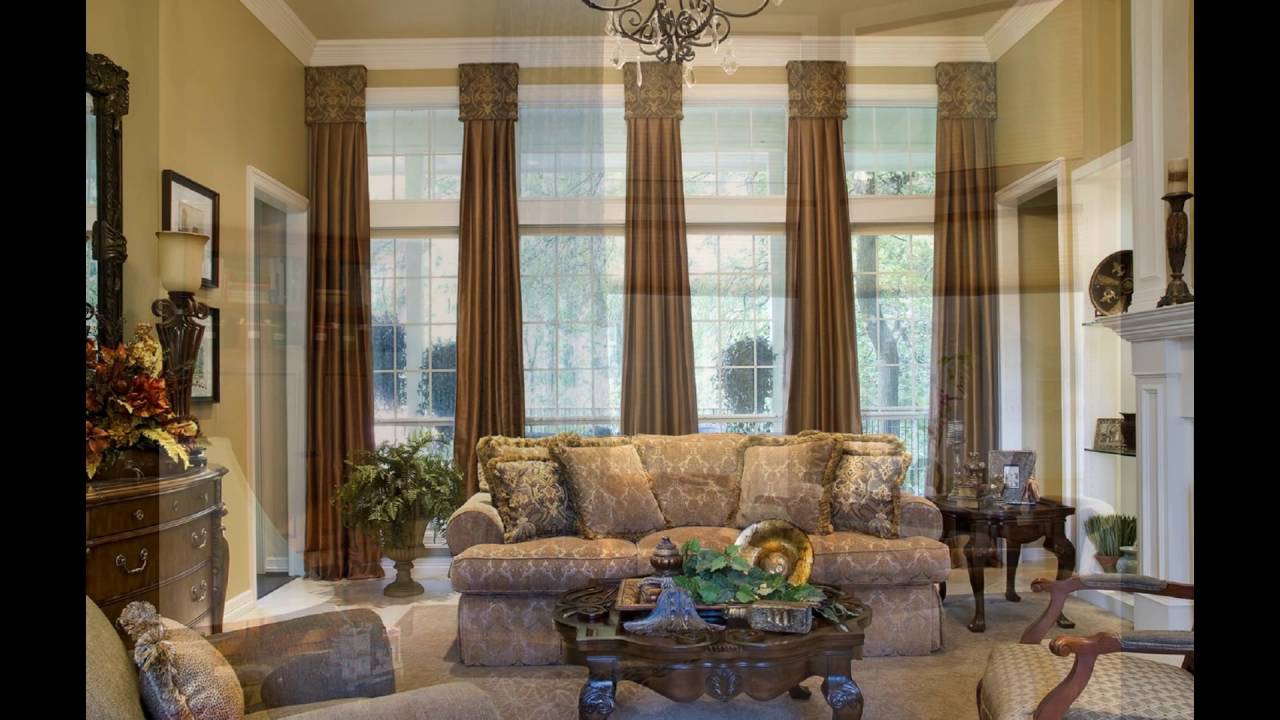 Window treatments for large windows youtube - Living room picture window treatments ...
