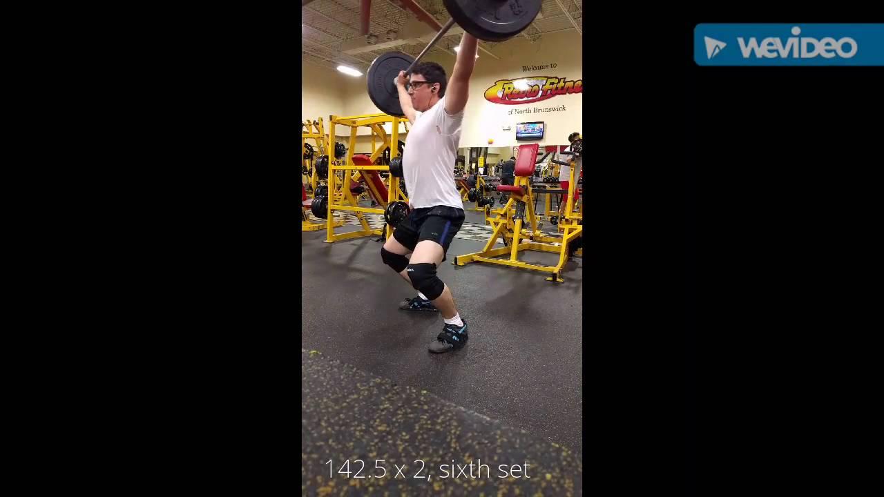 Texas Method week 18 volume day power snatch 142 5 x 2 x 7