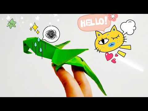 DIY Paper Origami - How to make Origami 3D Parrot 🐦