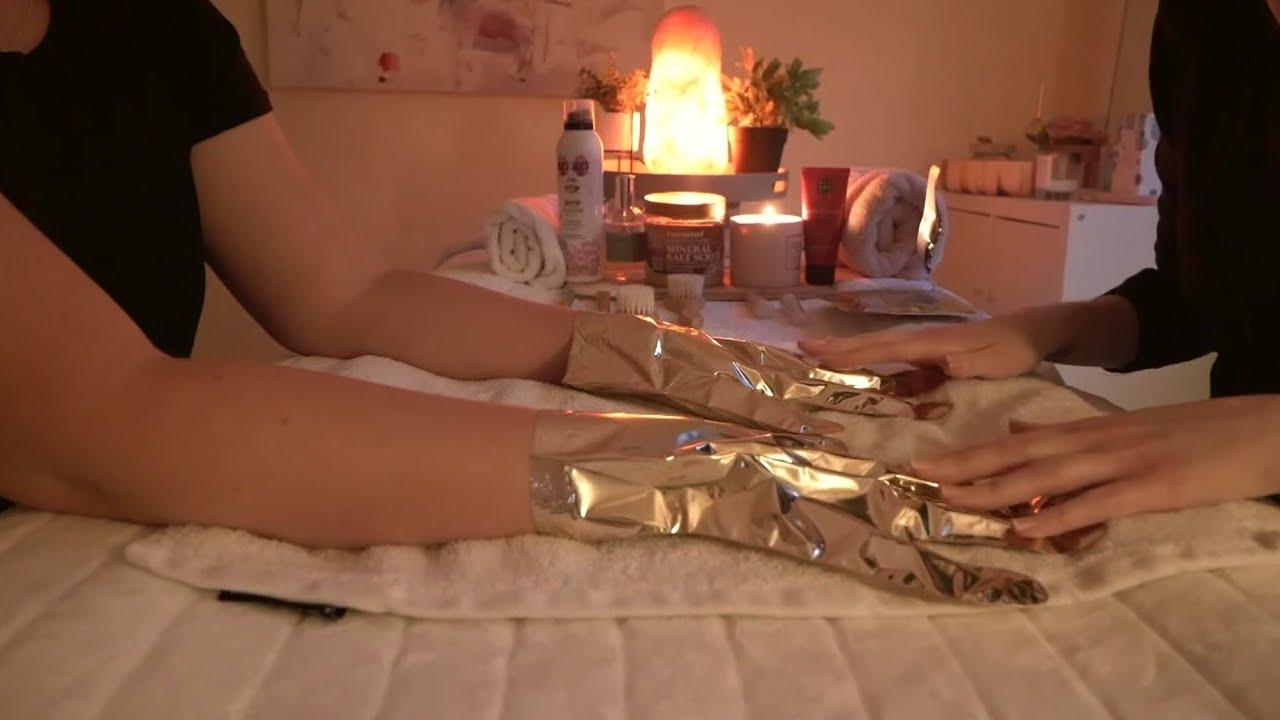 ASMR Heavenly Hand and Arm Treatment   Soft Spoken   Cleanse, Exfoliate, Massage & Rose Quartz Wands