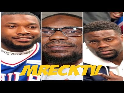 Meek Mill & Beanie Sigel Don't Speak To Each Other At 76ers Game, Beans Walked Pass Him & Kevin Hart