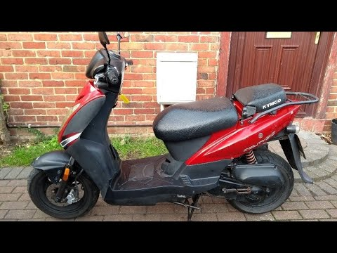 Brief look at my restricted Kymco Agility 50 scooter  review