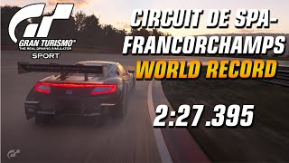 GT Sport World Record // Online Time Trial A (19.12.19-02.01.20) // Circuit de Spa-Francorchamps
