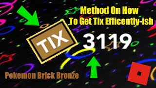 Method on how to get Tix - Roblox - PBB