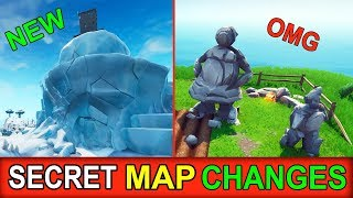 "*NEW* SECRET MAP CHANGES (FORTNITE UPDATE) ""POLAR PEEK DOOR EVENT & STONE PEOPLE FAMILY"""