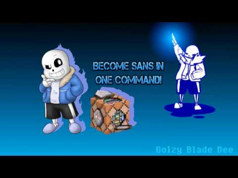 Minecraft vanilla 1.10 BECOME UNDERTALE SANS! ONLY ONE COMMAND