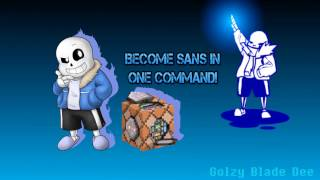 Minecraft vanilla 1.10/1.11/1.12 BECOME UNDERTALE SANS! ONLY ONE COMMAND