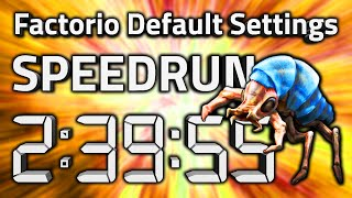 "Factorio ""Default Settings"" World Record Speedrun in 2:39:55 by AntiElitz [v1.1.8]"