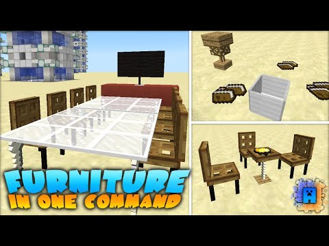Minecraft: Working Furniture in only one command! (1 9) - YouTube