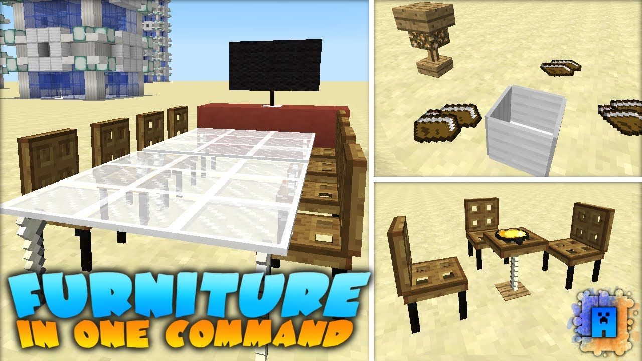 Minecraft Working Furniture In One Command