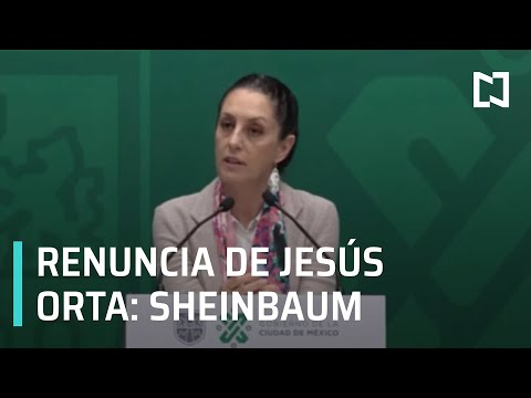 Sheinbaum: Renuncia de Orta fue por motivos personales