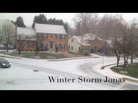 Winter Storm Jonas Time Lapse in 60 seconds from Washington DC Suburbs