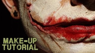 Joker Scars; How to Make up with Joker Prosthetics (Professional)