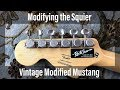 Modifying the Squier VM Mustang | Part 6: Installing Locking Tuners