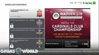 Madden 19 - MADDEN CLUB CHAMPIONSHIP SOLOS MUTCOINS AND REWARDS EXPLAINED! MUT 19 TIPS