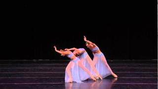 Katia Almayeva, Gillian Fitz and Nina Putlak performing Sonnet at regional YAGP in Dallas