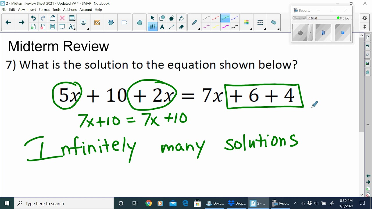medium resolution of MATH - Midterm Review (8th Grade and IA) - YouTube