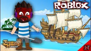 ROBLOX Indonesia #100 Treasure Hunt Simulator | Ship Pirates to Private island