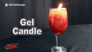DIY Glitter Gel Candles | How to make | JK Arts 1271