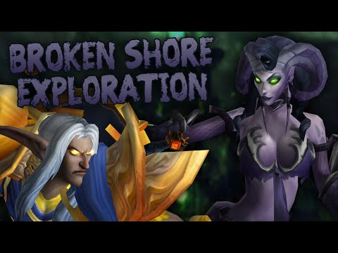 Parkour Exploration & PvE on the Broken Shore (Part 2) - Swifty Plays WoW Legion Beta