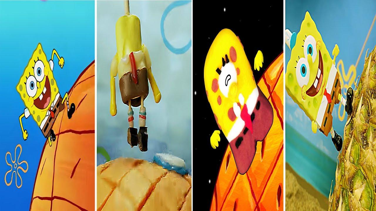 Spongebob IRL vs Among Us Animation