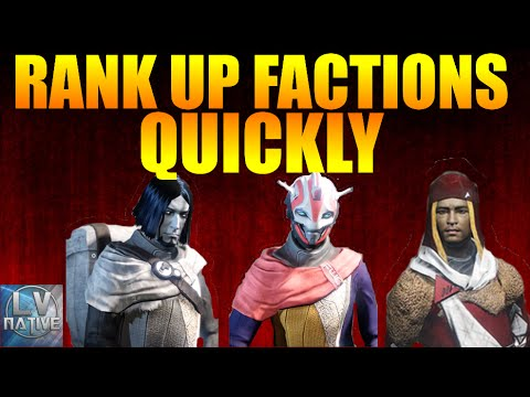 Destiny How To Rank Up Factions Fast | Quick Faction Rep