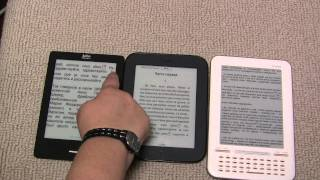 Nook Simple Touch, Kobo Touch, Iriver Story HD- short comparison