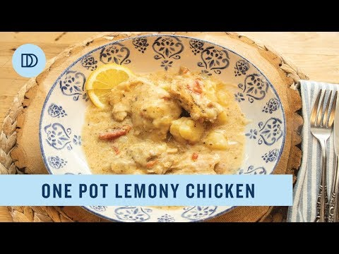 One Pot Lemony Chicken & Potatoes  - Ready In Under 60 Minutes!
