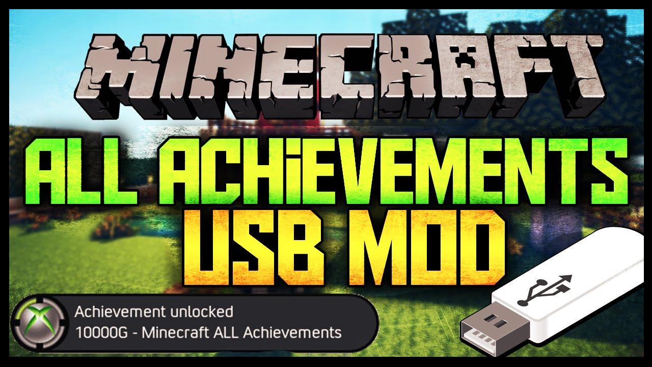 Minecraft Xbox One/360 All Achievements USB Mod XPG Gaming