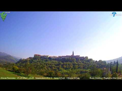 Buzet, Goričica, Pogled na Stari Grad 19-10-2017 Day HD TimeLapse