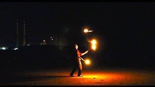 Freestyle Fire Juggling