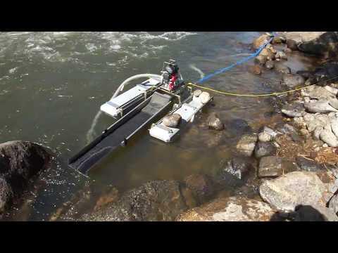 Dredging the Arkansas River, Colorado -- 4 Oct 2017