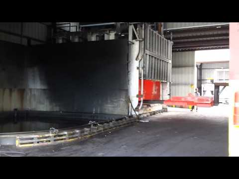 18,000 pounds of 4340 alloy steel quenching in oil