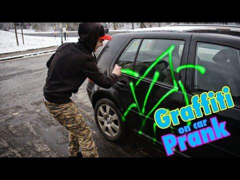 Graffiti Spray Paint On Car PRANK /w Šrumik