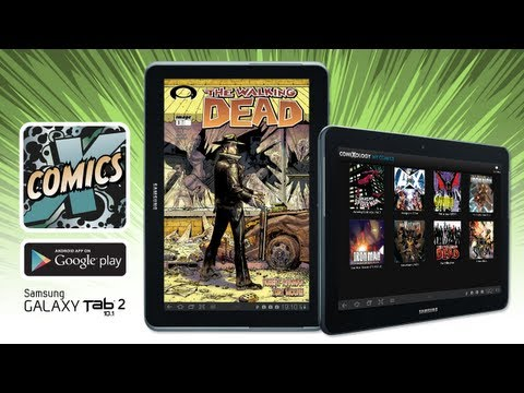 Comics by comiXology on Samsung Galaxy Tab 2 10.1