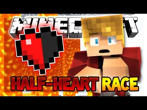 TRYING HARD NOT TO DIE?! | Half Heart Race (Minecraft Custom Race Map)
