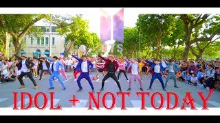[ KPOP IN PUBLIC CHALLENGE ] BTS (방탄소년단)_Not Today + 'IDOL (아이돌)' Dance Cover @ FGDance from Vietnam