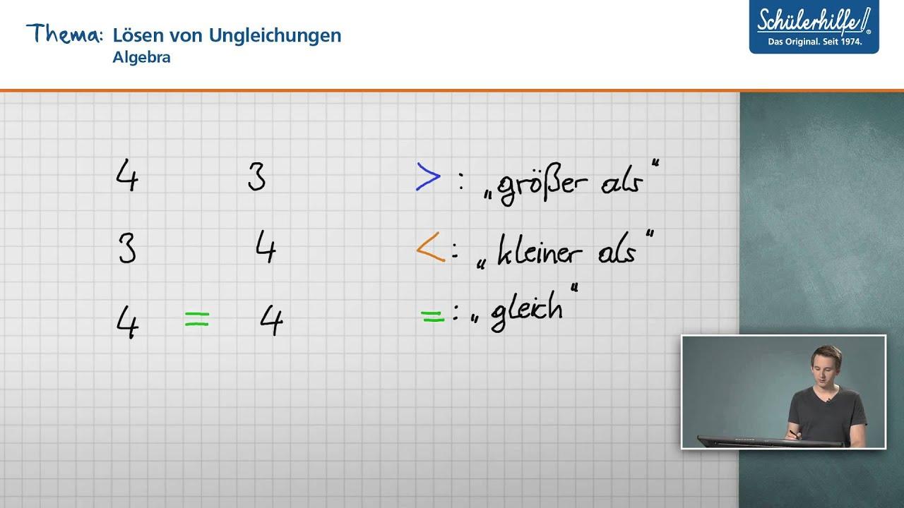 ungleichungen l sen gleichungen ungleichungen mathematik sch lerhilfe lernvideo youtube. Black Bedroom Furniture Sets. Home Design Ideas