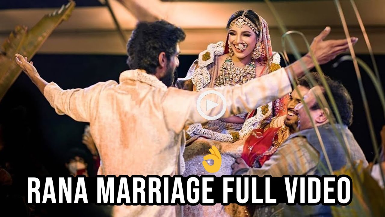 LOVELY COUPLE: RANA DAGGUBATI & MIHEEKA BAJAJ MARRIAGE FULL VIDEO   RANA Weds Miheeka   DC