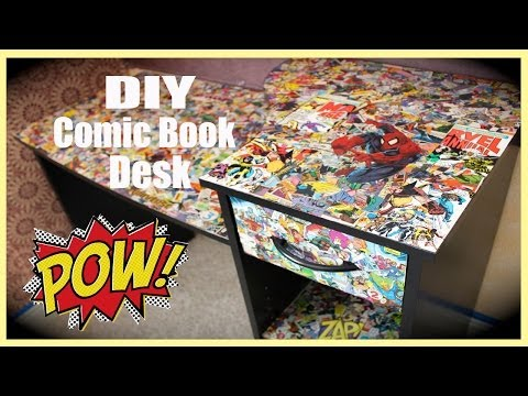 DIY Comic Book Desk