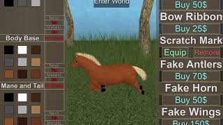ROBLOX - Horse World - All My Game pass cavalli - godetevi