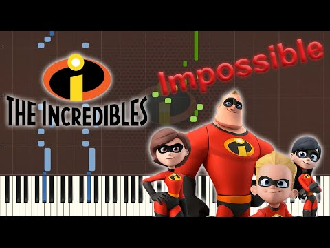 The Incredits (From the Incredibles)[Piano Tutorial] (Synthesia)