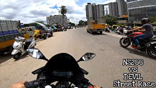 NS200 vs DEVIL(R15 v3) STREET RACE