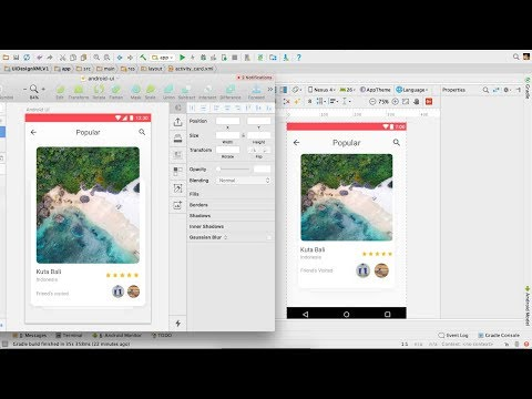 Travel Card UI Design Android XML Tutorial