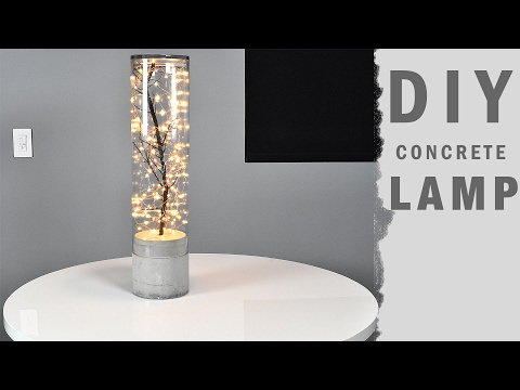 DIY Concrete Lamp Indoor Outdoor