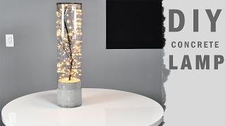 DIY Concrete Lamp Indoor Outdoor