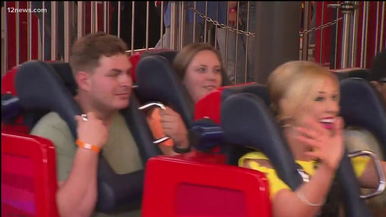Krystle Henderson rides the new 'Incredicoaster'